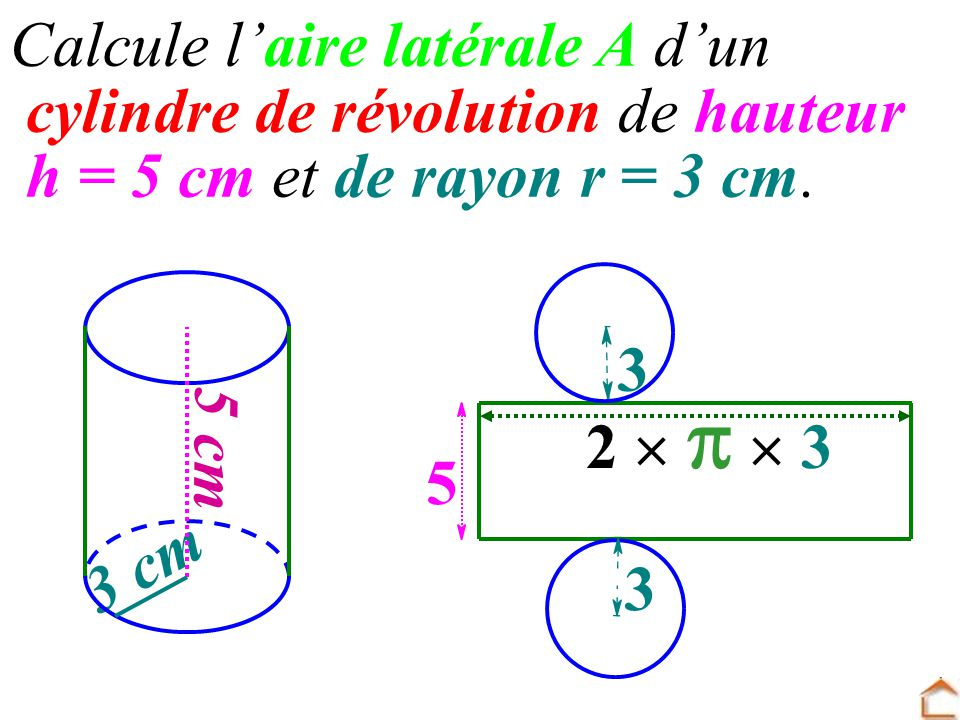 Cylindre de r volution ppt video online t l charger for Calculer le volume d une maison