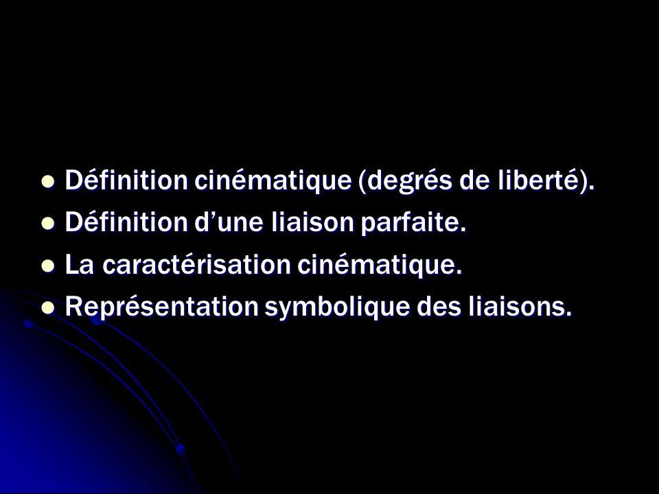 Définition cinématique (degrés de liberté).