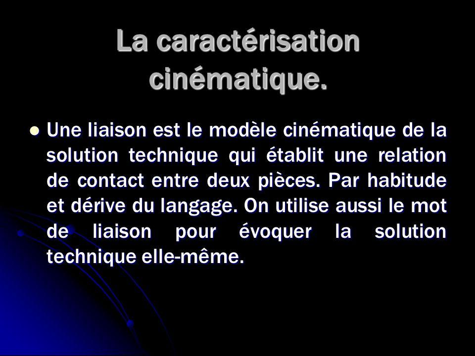 La caractérisation cinématique.