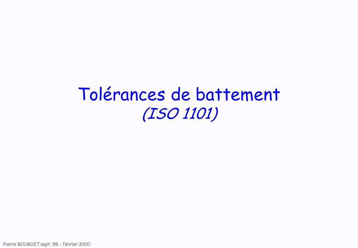 Tolérances de battement (ISO 1101)