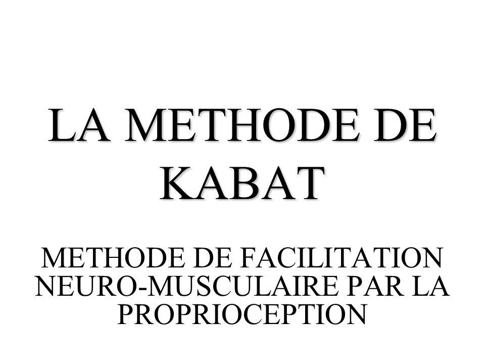 METHODE DE FACILITATION NEURO-MUSCULAIRE PAR LA PROPRIOCEPTION