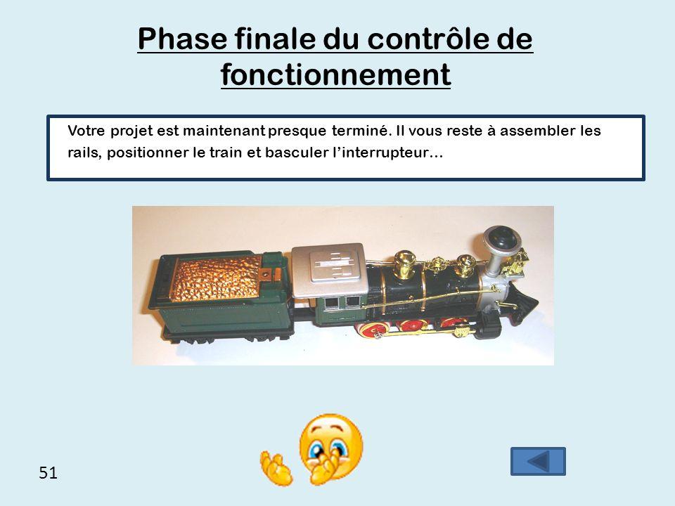 Phase finale du contrôle de fonctionnement
