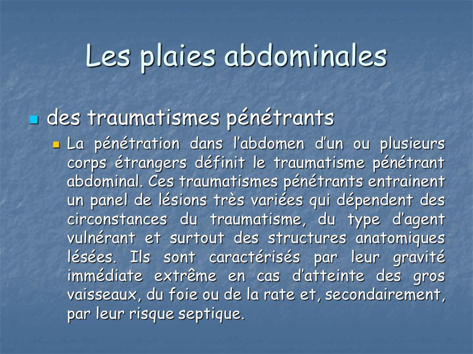 Les plaies abdominales