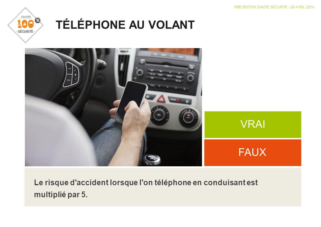 TÉLÉPHONE AU VOLANT VRAI FAUX