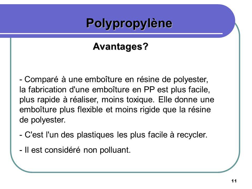 Polypropylène Avantages