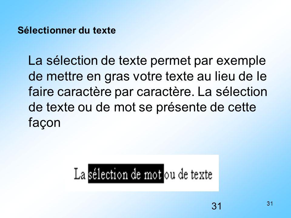 Sélectionner du texte