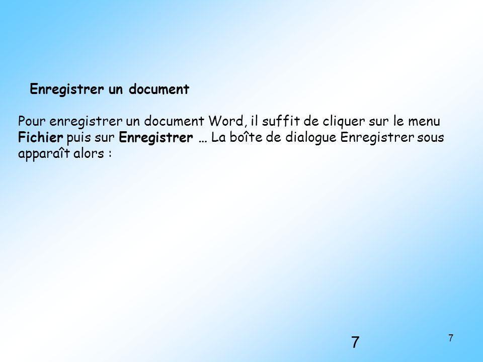 Enregistrer un document