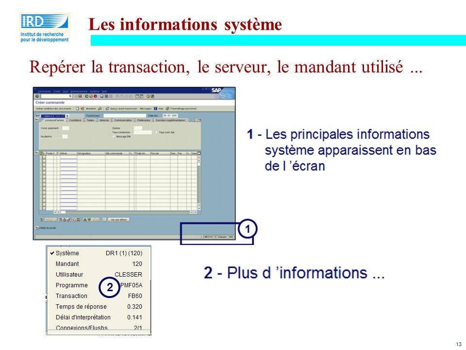 Les informations système