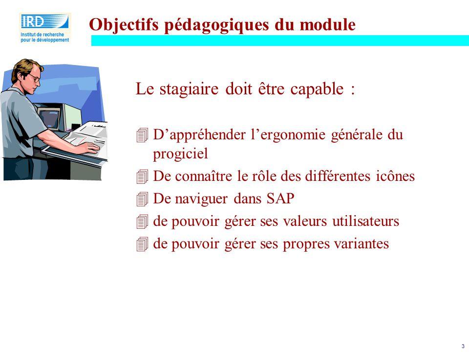 Objectifs pédagogiques du module