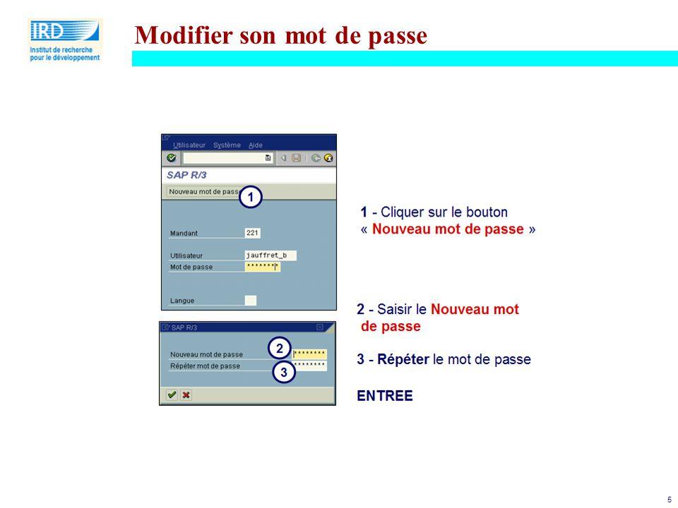 Modifier son mot de passe