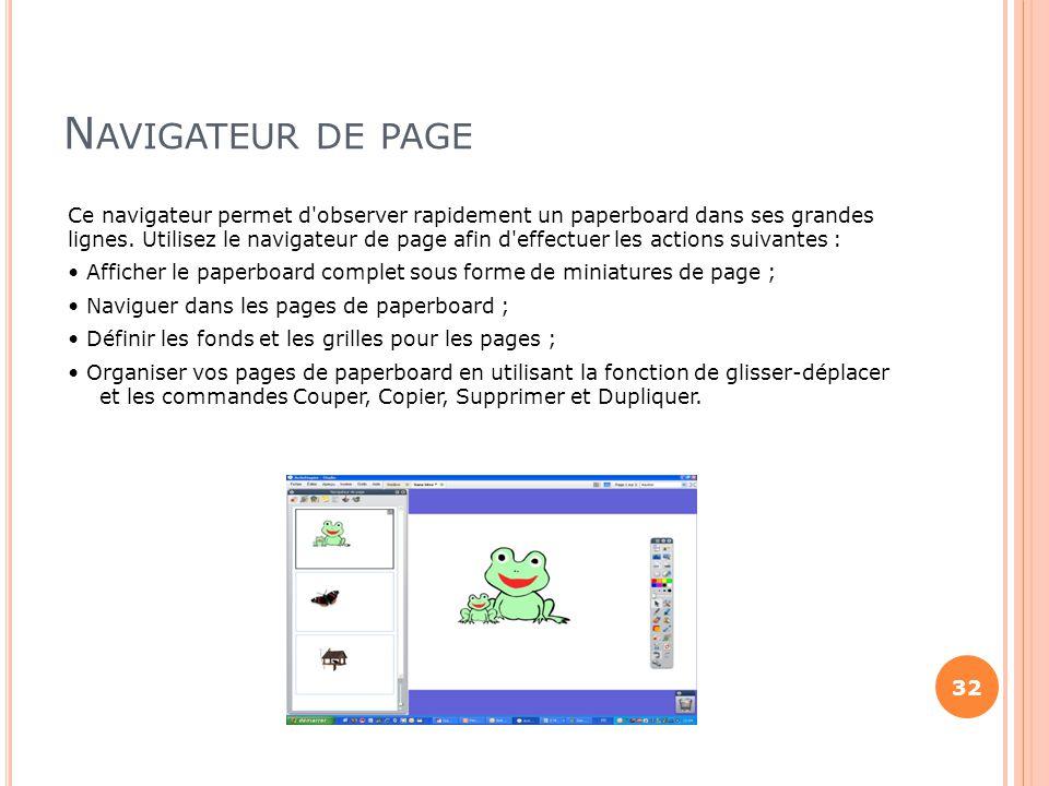Navigateur de page