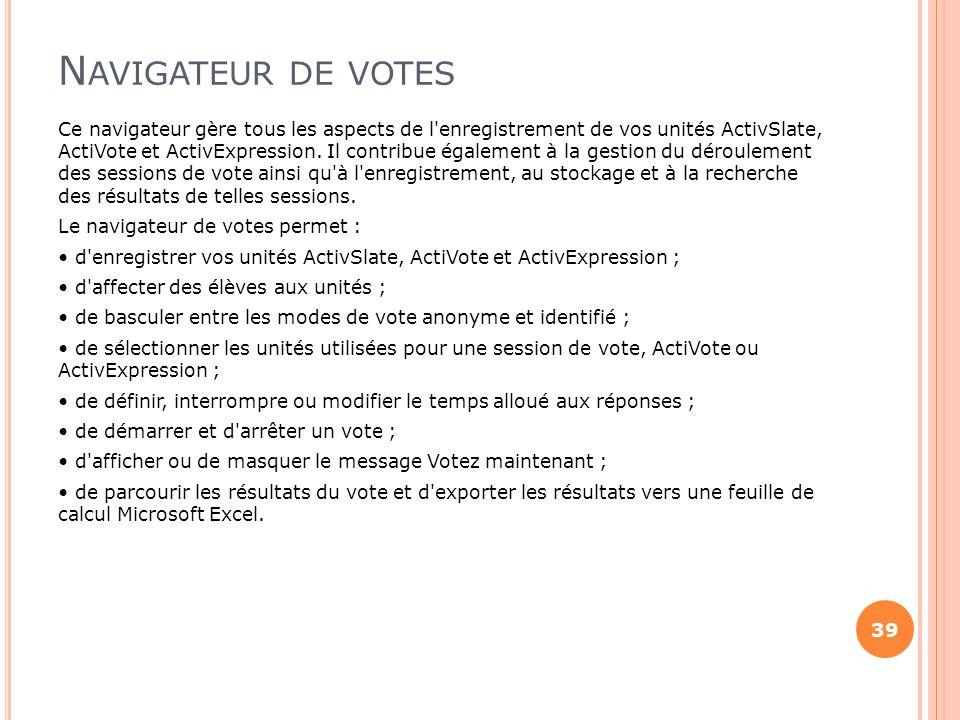 Navigateur de votes