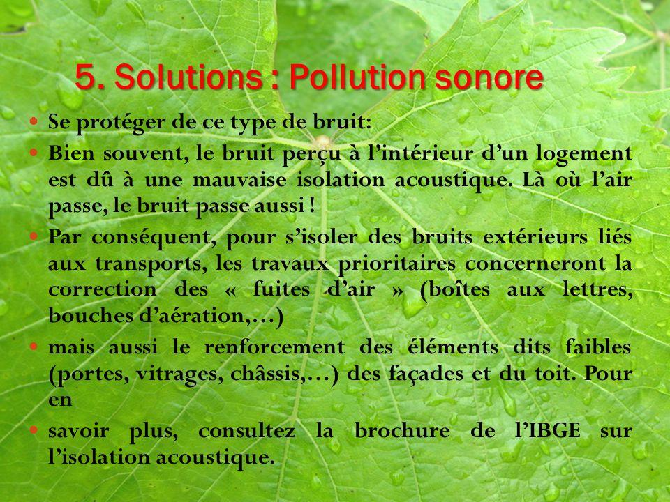 Th me impact sur les sites et les paysages ppt - Solution pour isoler du bruit ...