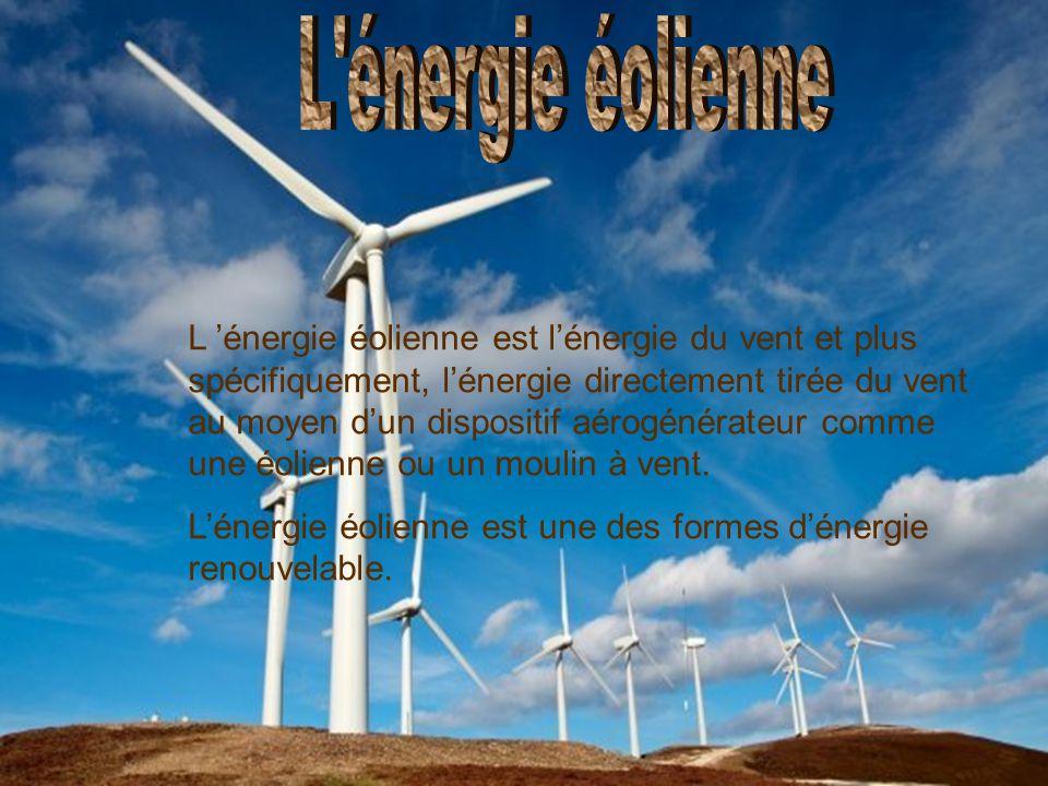 L énergie éolienne