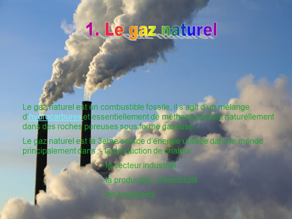 Les sources d nergies ppt video online t l charger for Gaz naturel dans le monde