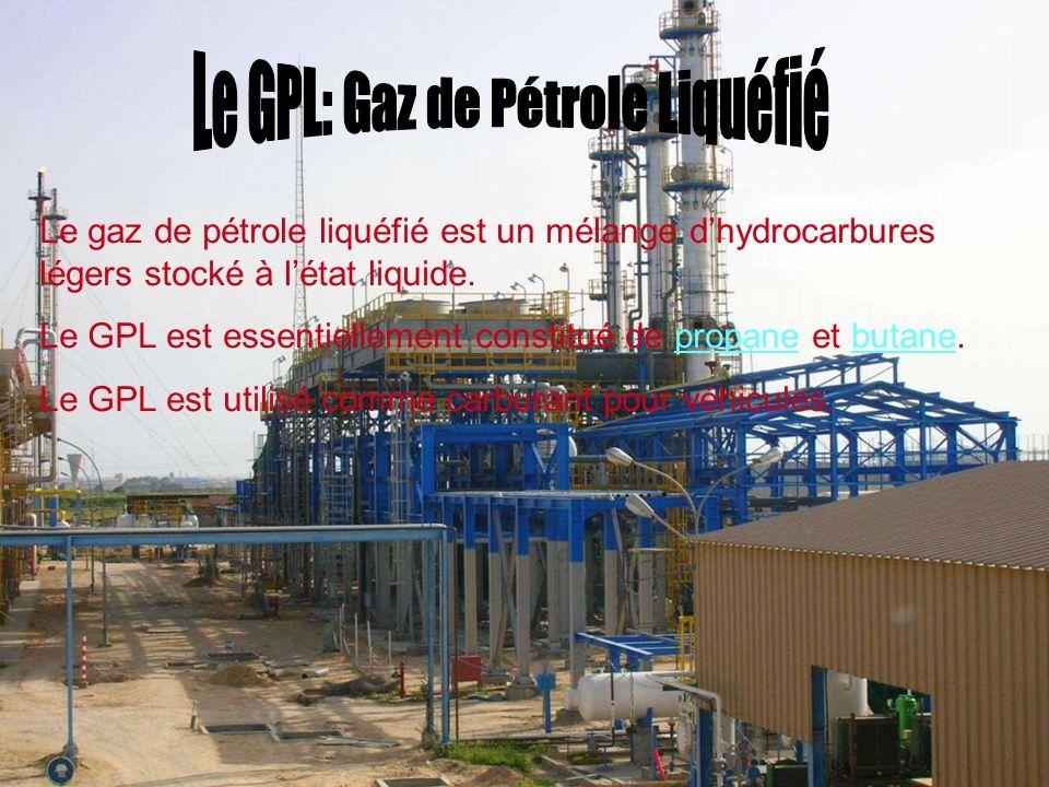 Le GPL: Gaz de Pétrole Liquéfié
