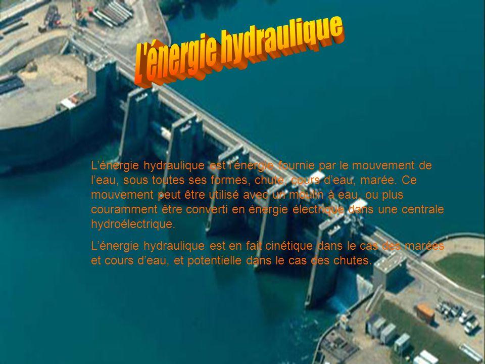 L énergie hydraulique