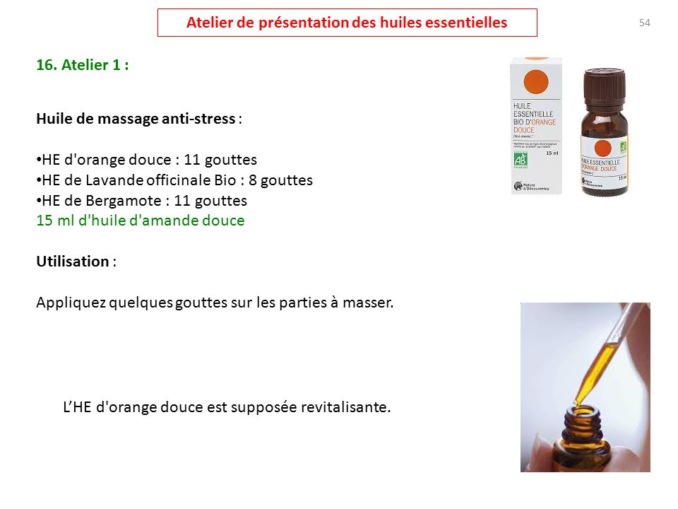atelier pr u00e9sentation huiles essentielles
