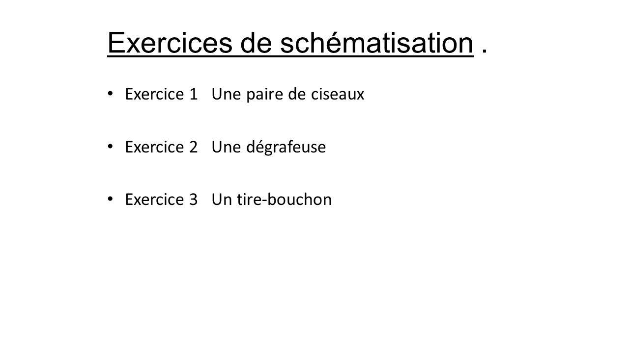 Exercices de schématisation .