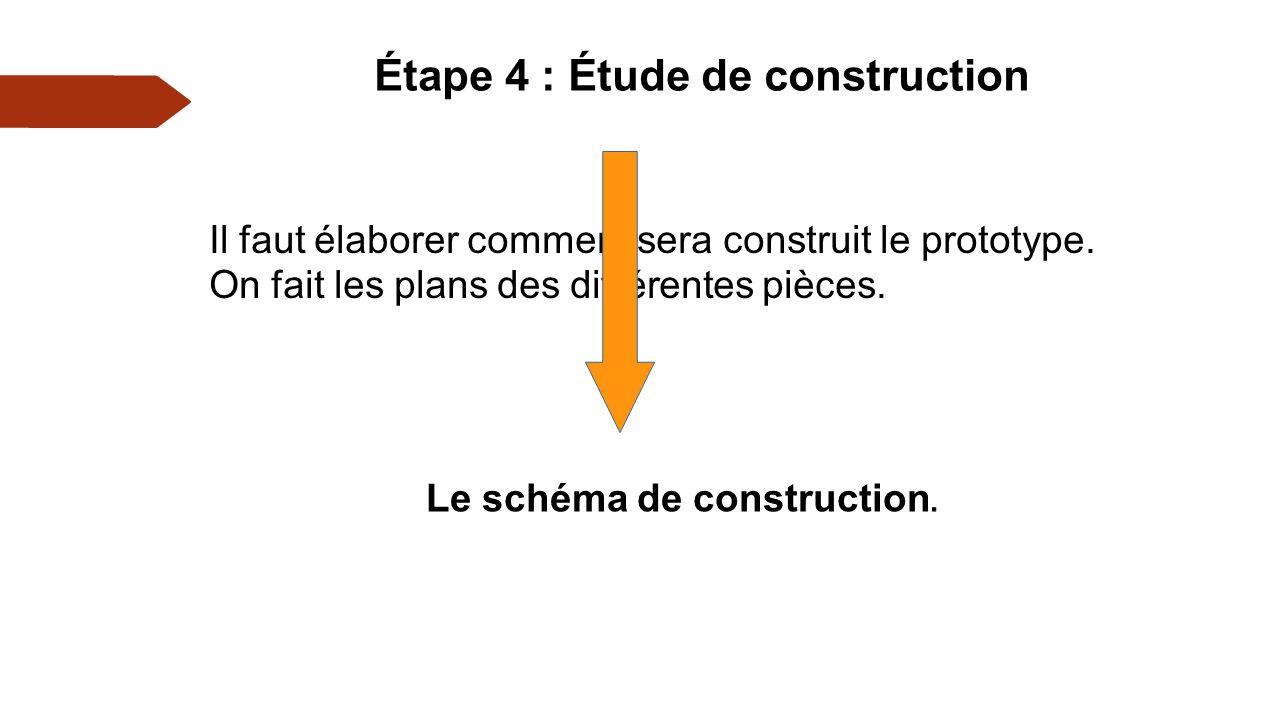 Étape 4 : Étude de construction