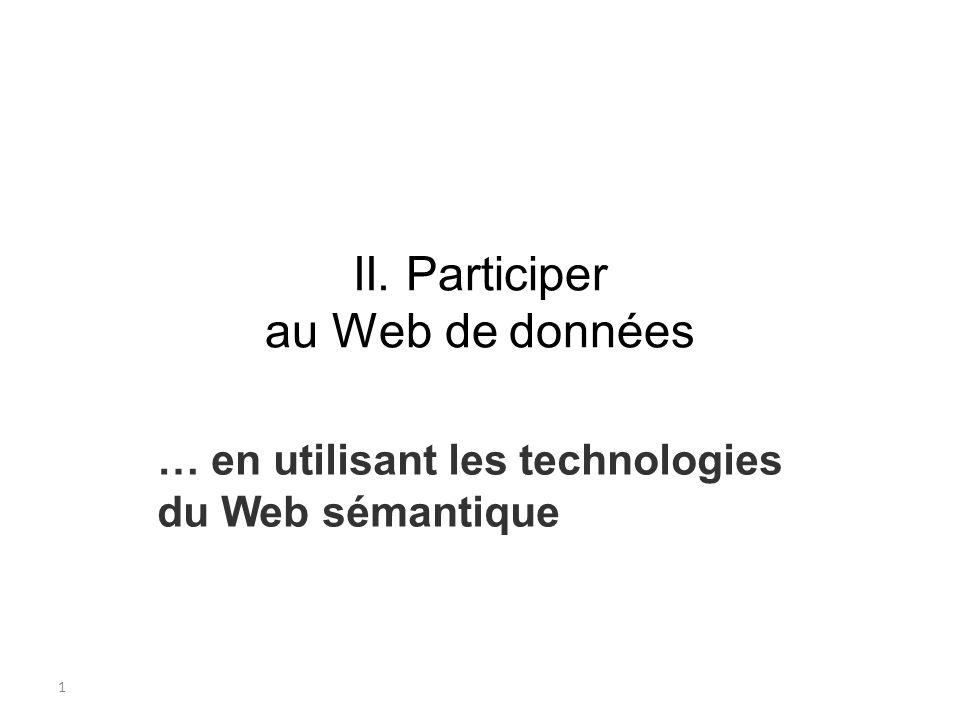 II. Participer au Web de données