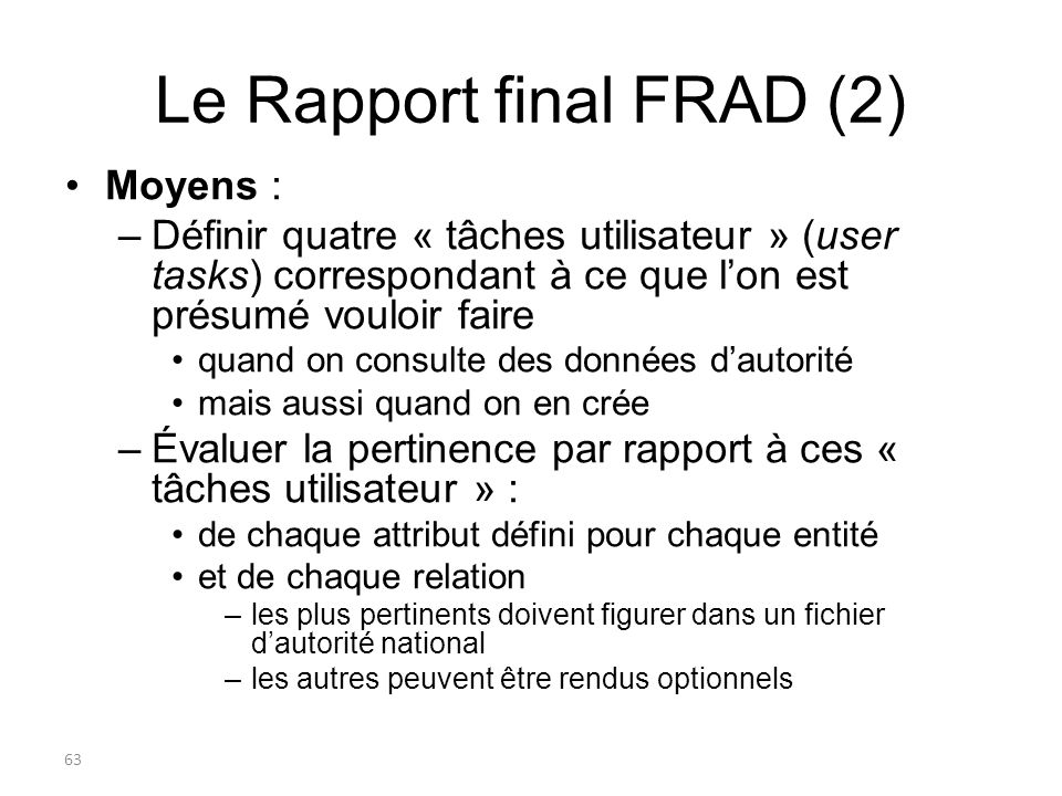 Le Rapport final FRAD (2)
