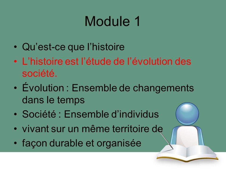 Module 1 Qu'est-ce que l'histoire