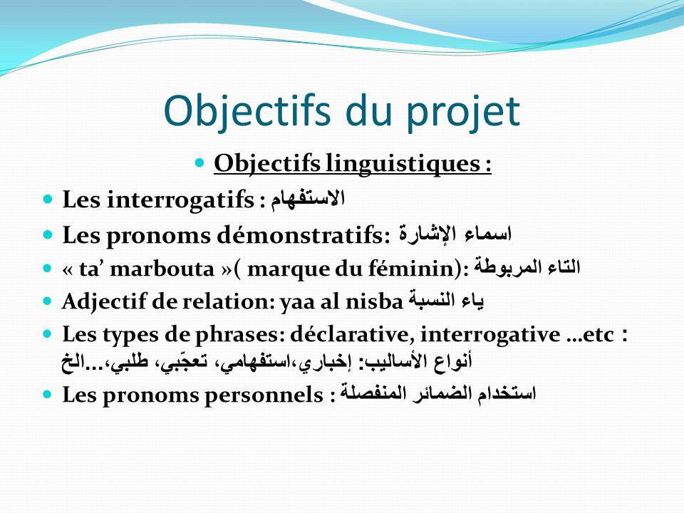 Objectifs linguistiques :