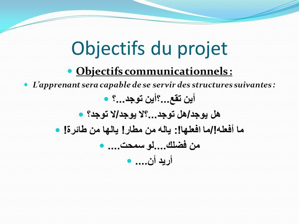 Objectifs du projet Objectifs communicationnels :