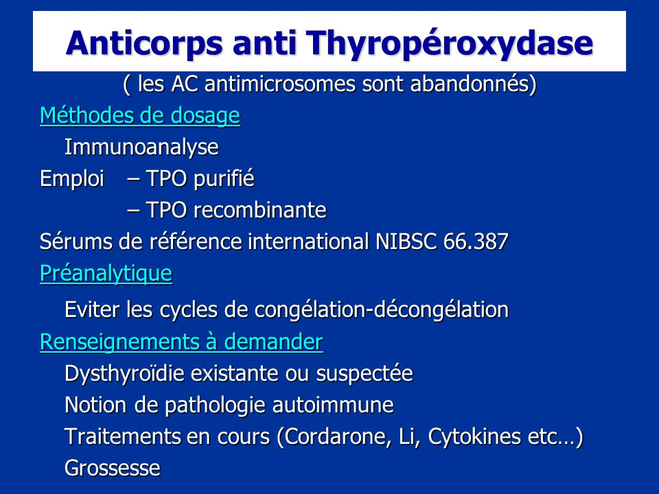 Anticorps anti thyroperoxydase et fausse couche - Fausse couche medicament ...