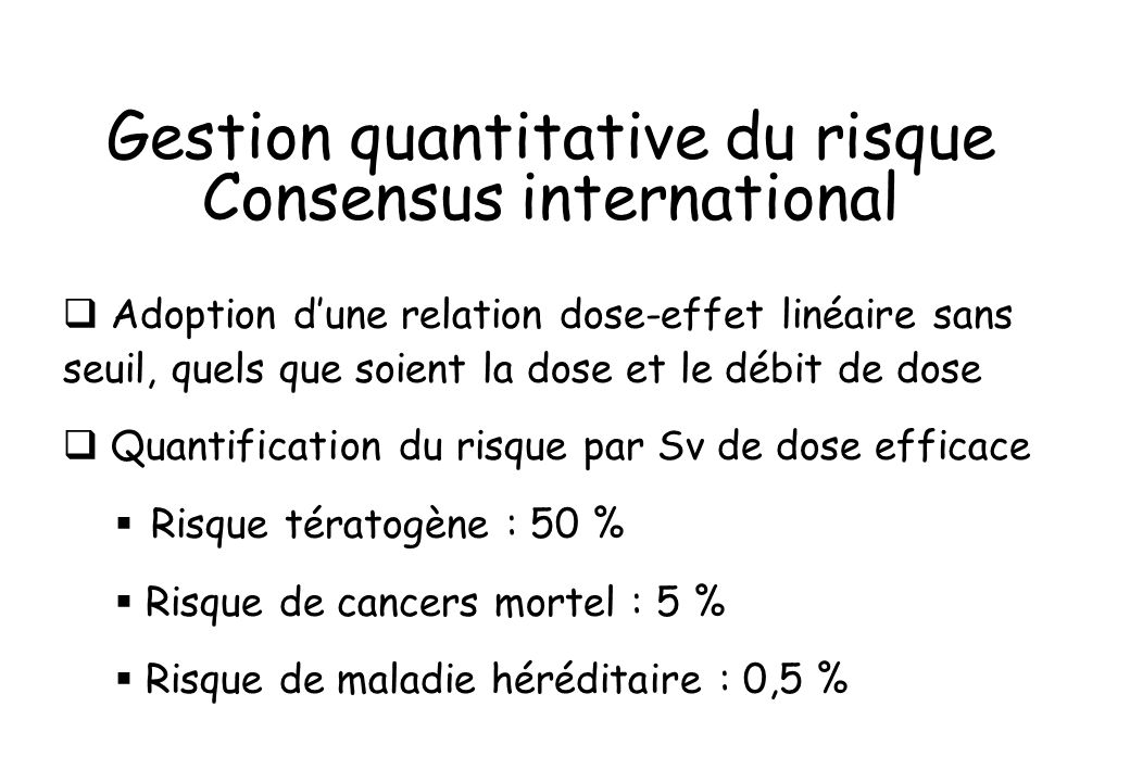 Gestion quantitative du risque Consensus international