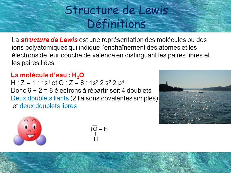 Structure de Lewis Définitions