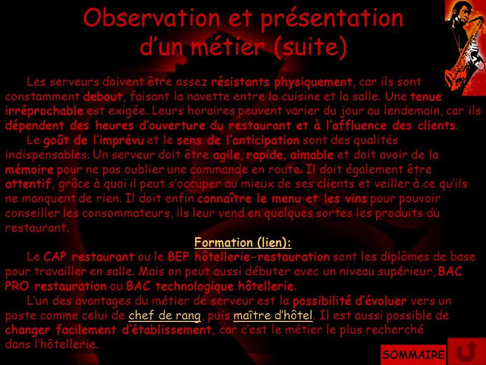 Observation et présentation