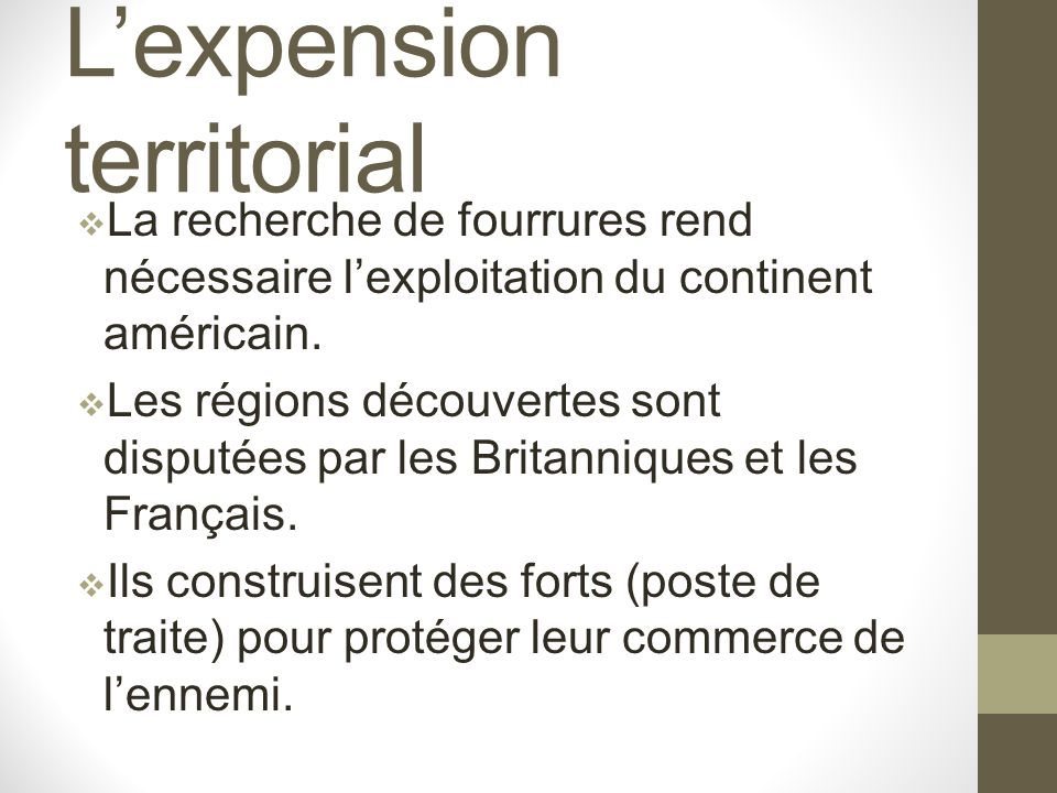 L'expension territorial