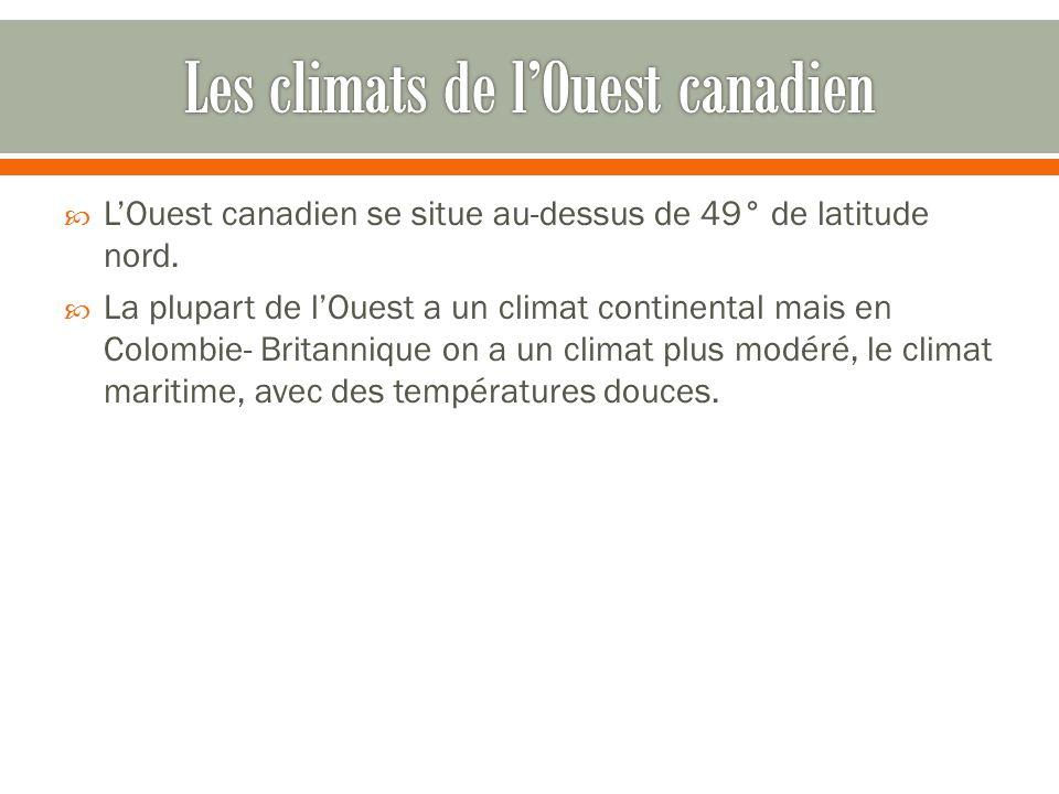 Les climats de l'Ouest canadien