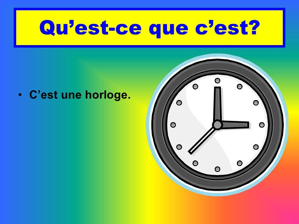 Qu'est-ce que c'est C'est une horloge.