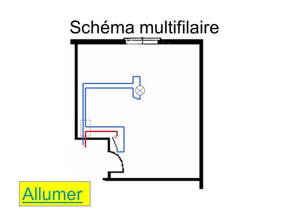 Schéma multifilaire E1 Q1 Allumer