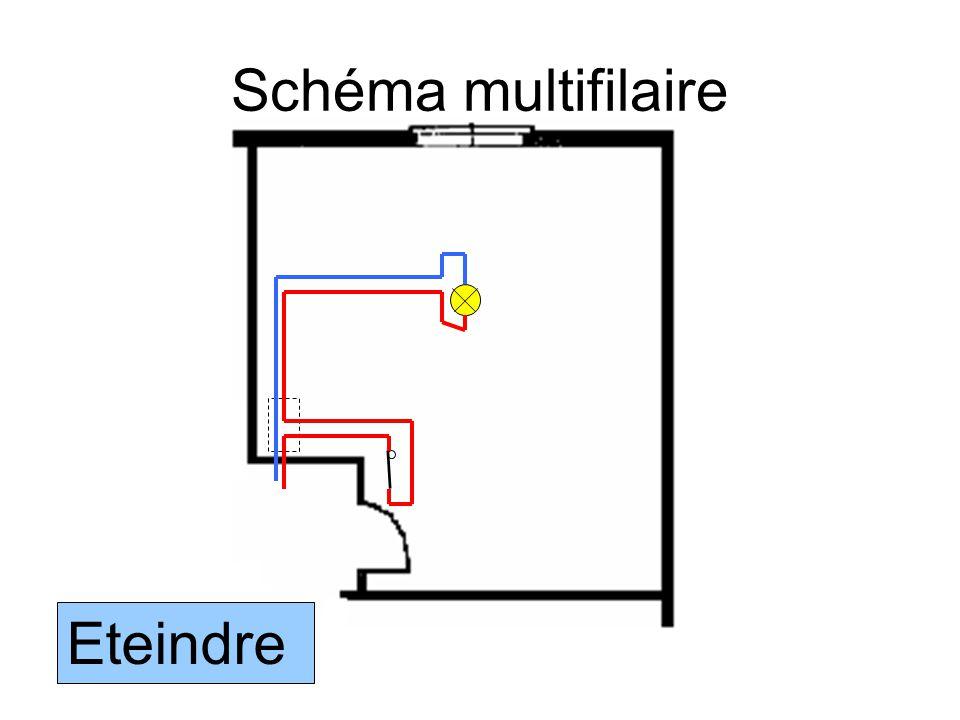 Schéma multifilaire E1 Q1 Eteindre
