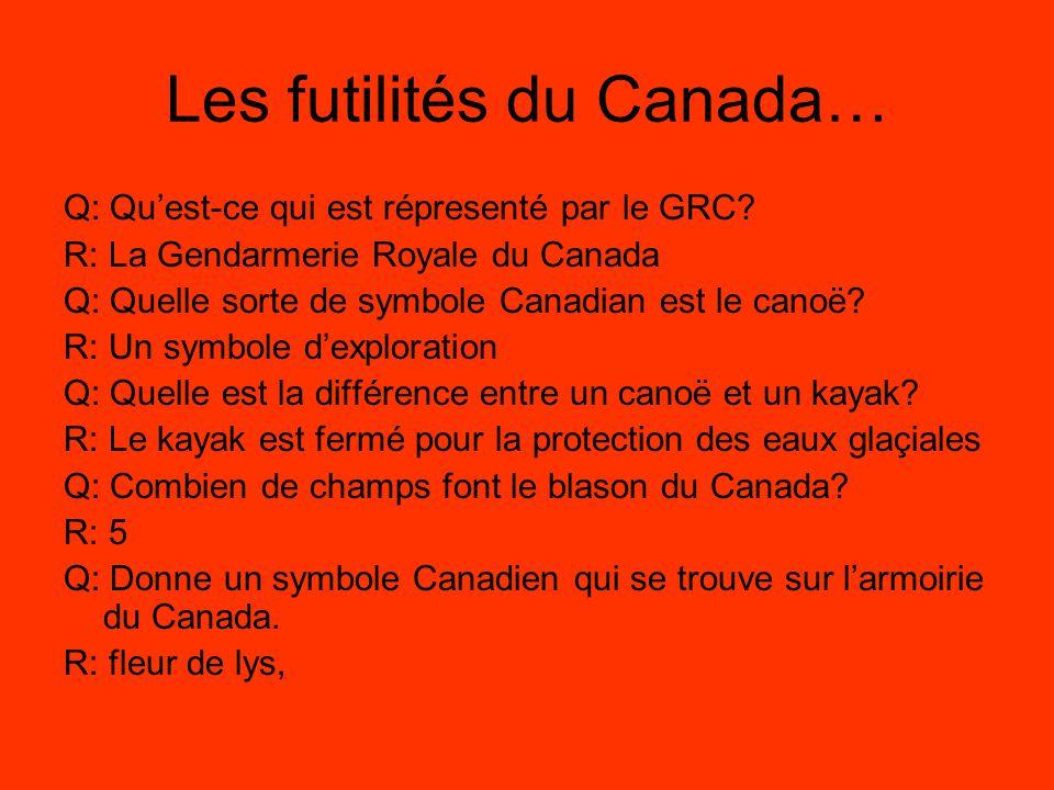 Qui sommes nous les symboles canadiens ppt video online for Qu est ce qu un puit canadien