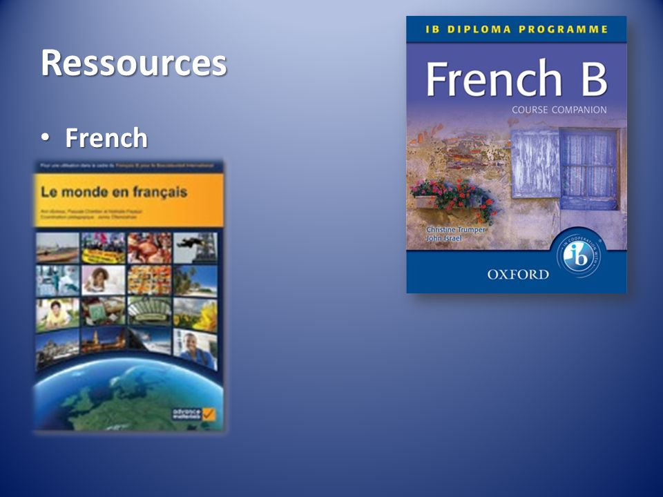 Ressources French