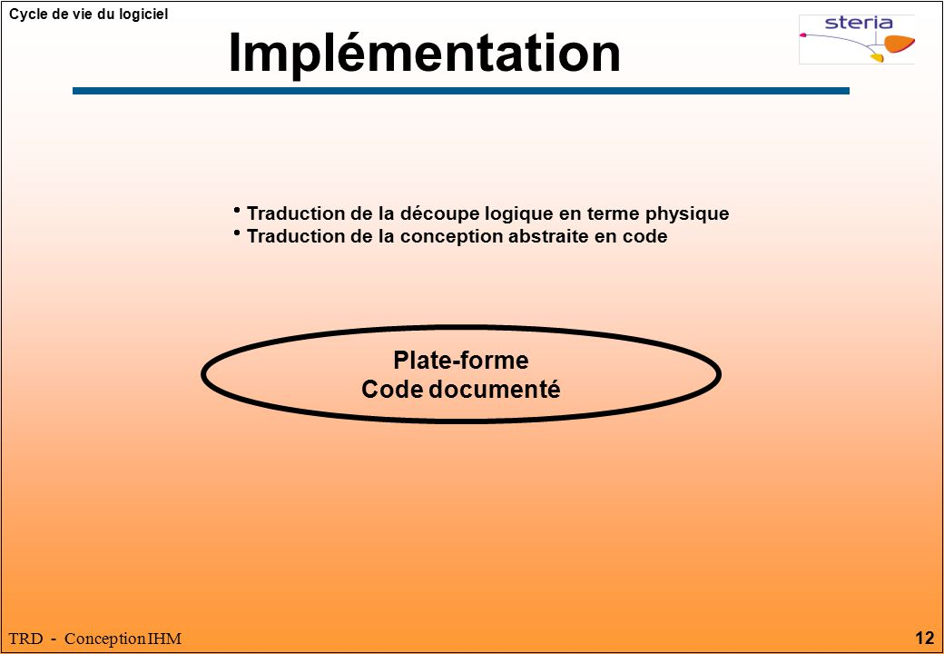 Implémentation Plate-forme Code documenté