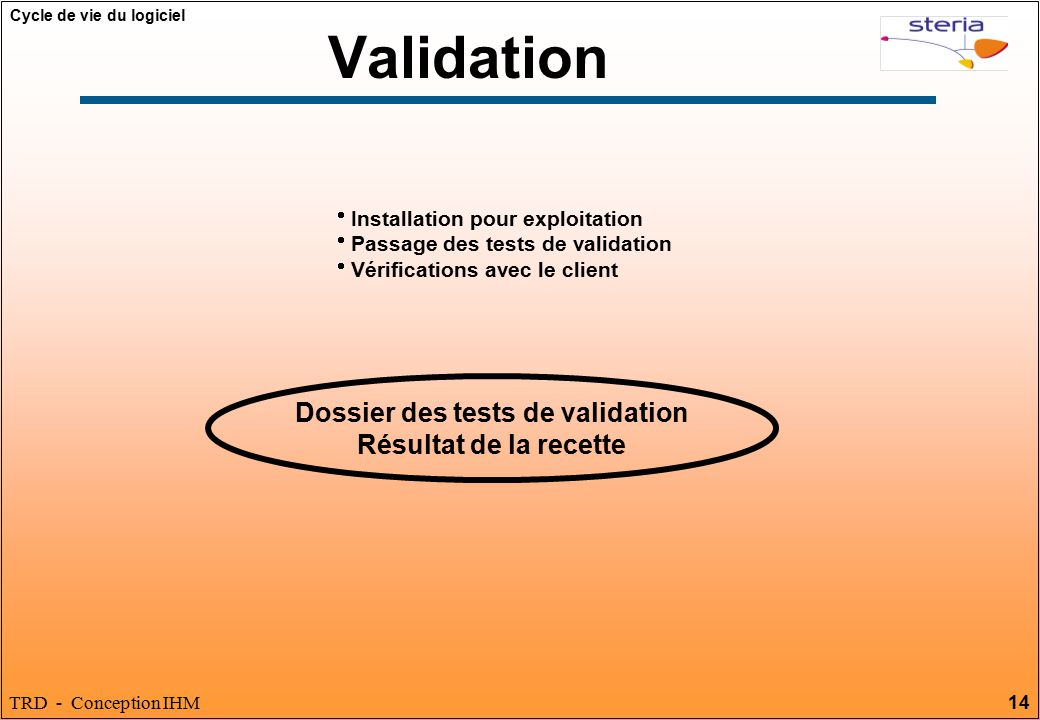 Dossier des tests de validation