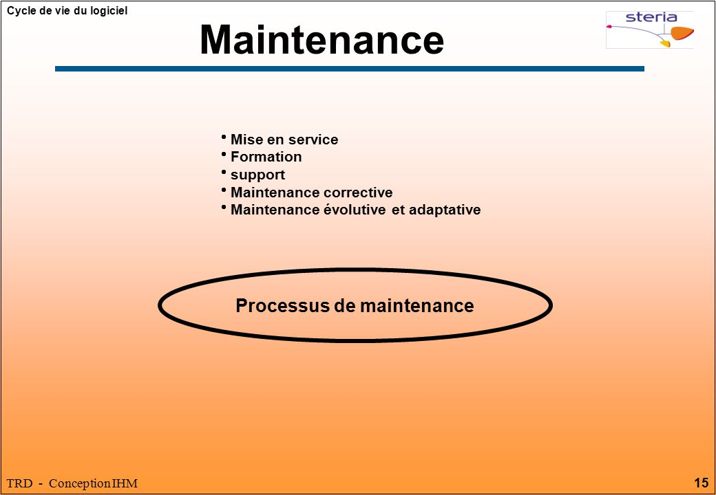 Processus de maintenance