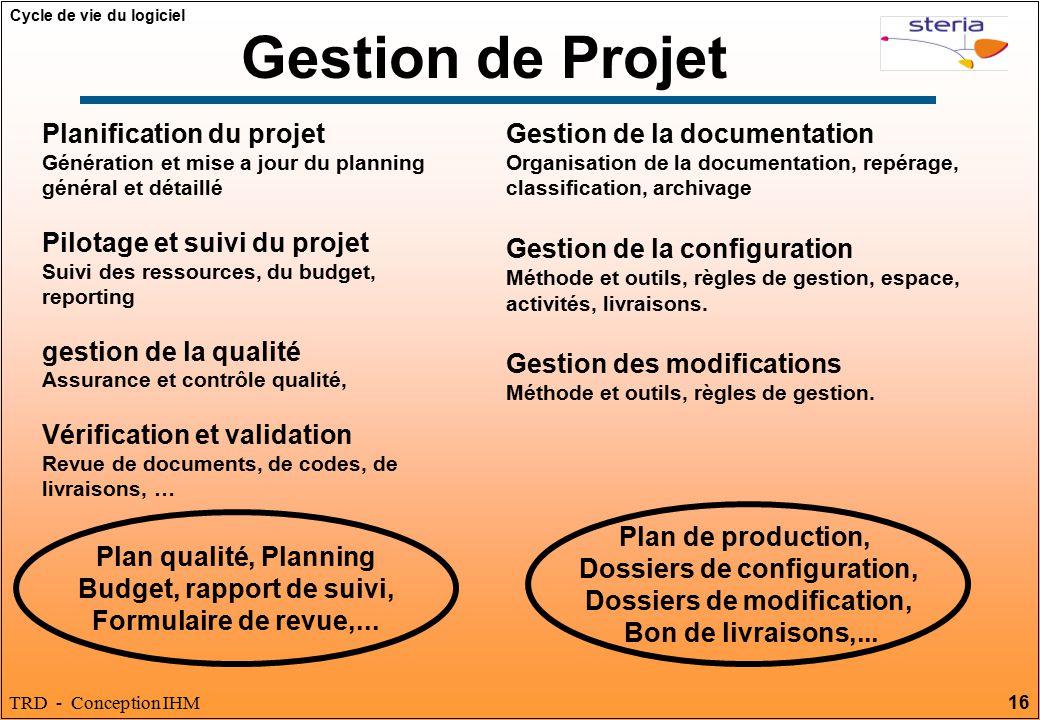Gestion de Projet Planification du projet Pilotage et suivi du projet
