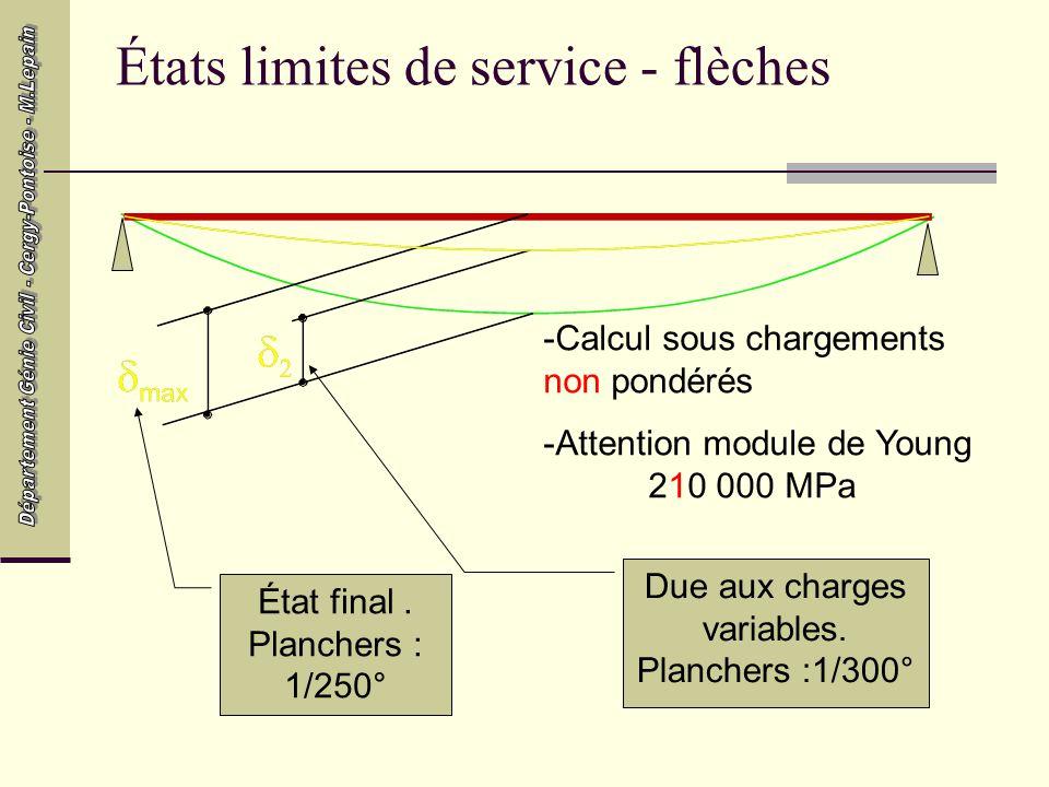 États limites de service - flèches