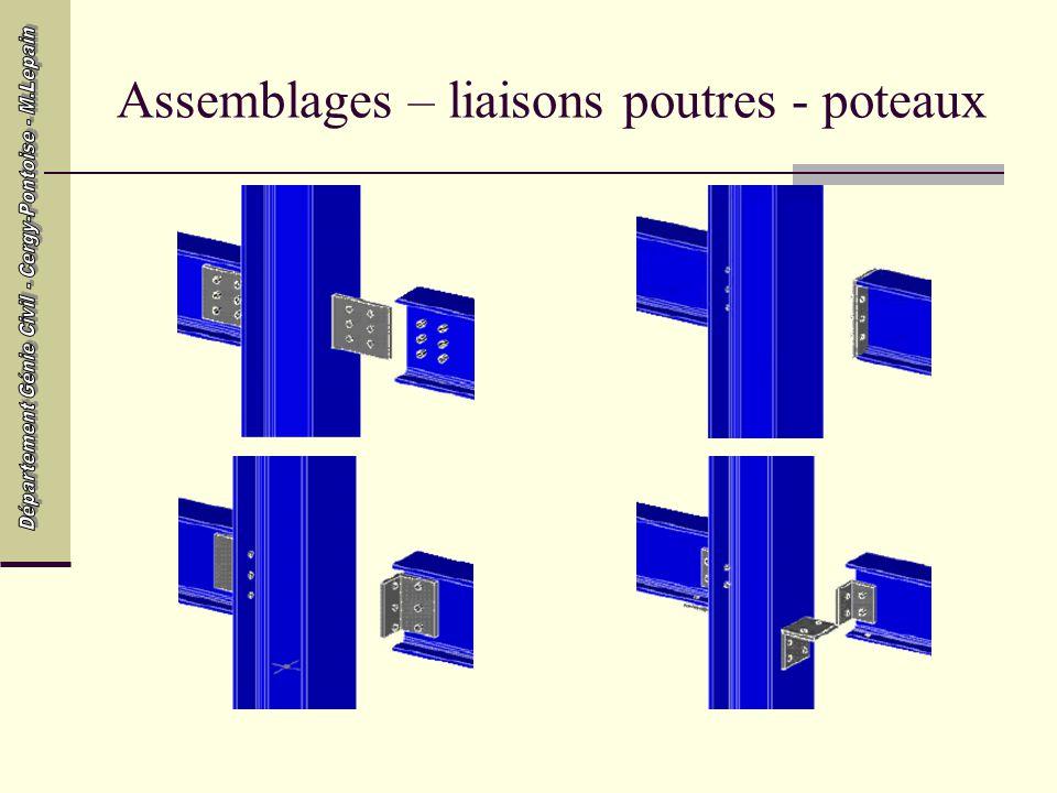 Assemblages – liaisons poutres - poteaux