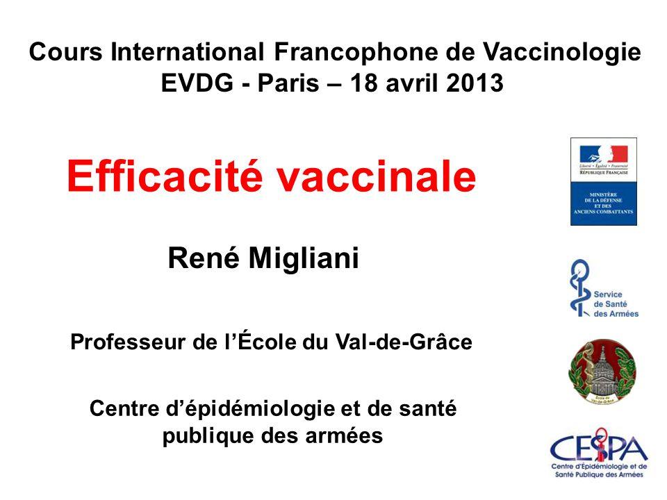 Efficacité vaccinale René Migliani