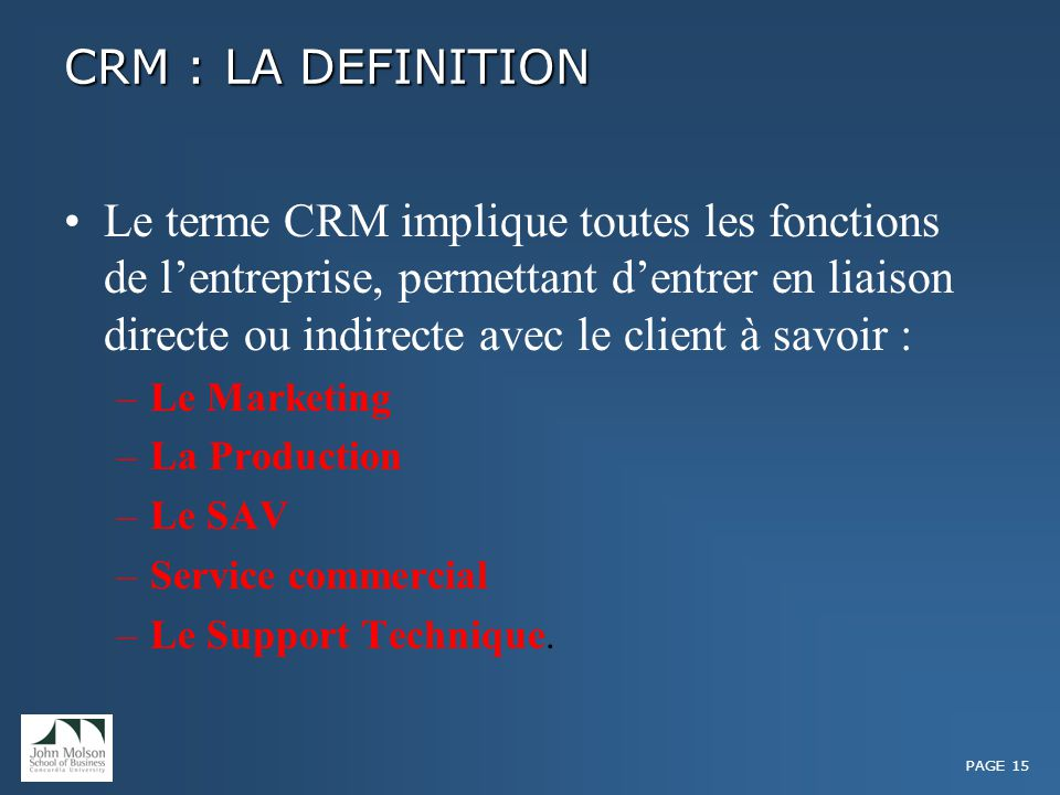 Customer relationship management ppt t l charger - Vente a terme definition ...