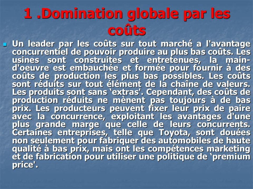 1 .Domination globale par les coûts
