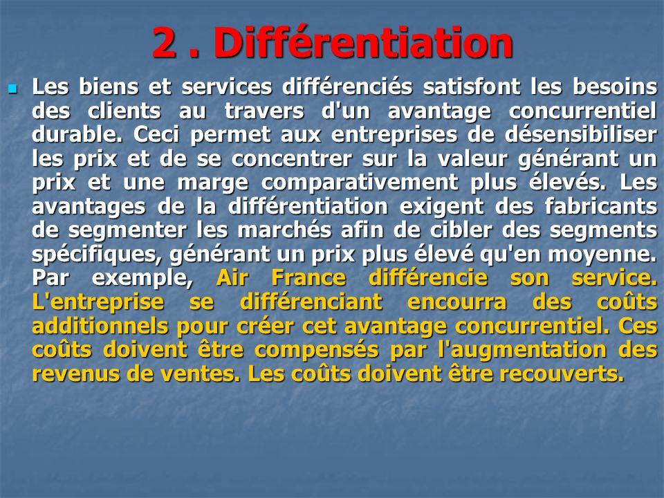 2 . Différentiation